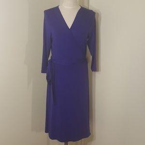 Tall Long-sleeve Banana Republic Wrap Dress